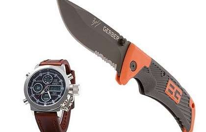 Нож Gerber Bear Grylls Ultimate + часы AMST в подарок